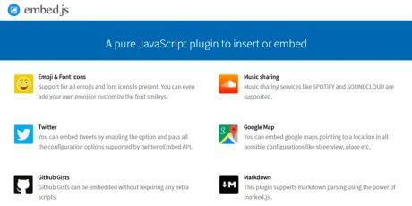 javascript embed plugin