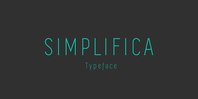 modern slim sans serif typeface