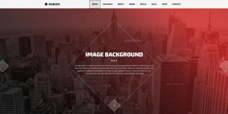 one page web template rubiko
