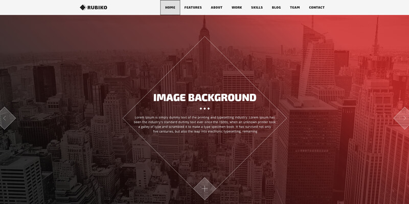 Rubiko: Complete One Page PSD Web Template   Bypeople