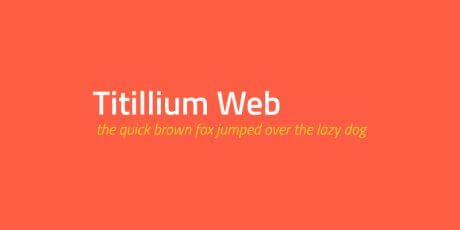 open font family titillium web