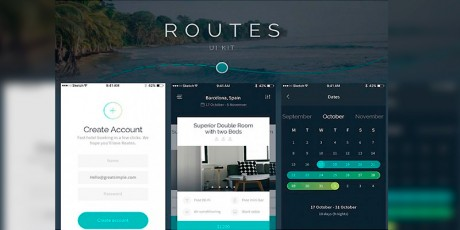 routes ui kit ios sketch psd