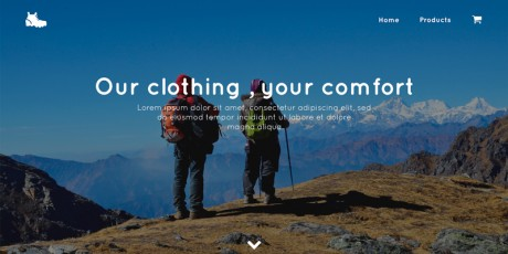 travelling website psd template