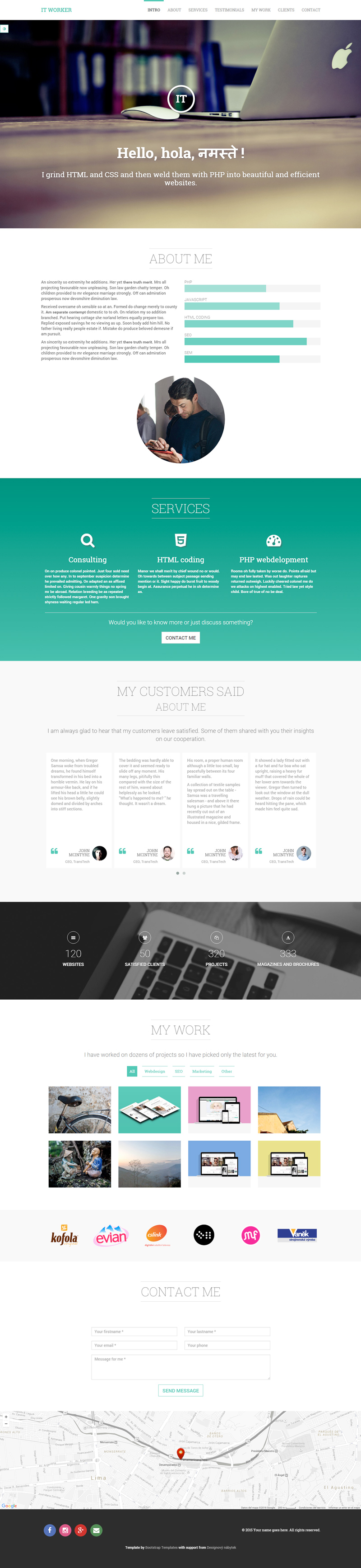 IT Worker: Responsive Portfolio HTML & CSS Template | Bypeople