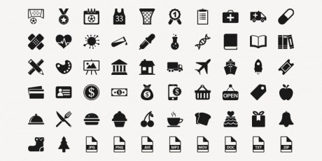 220 vector icons freebie in ai