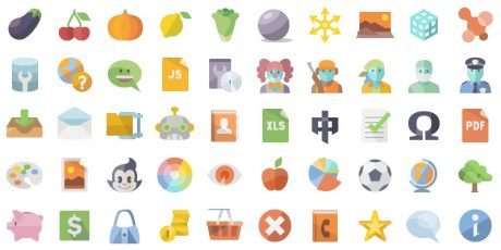 60k multipurpose flat icons