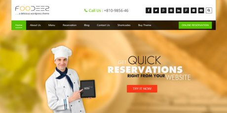 beautiful restaurant wordpress theme