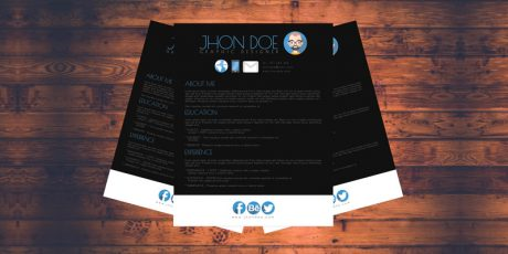 colorful resume templates set