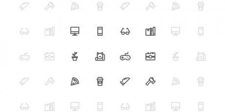 designer outline icon set