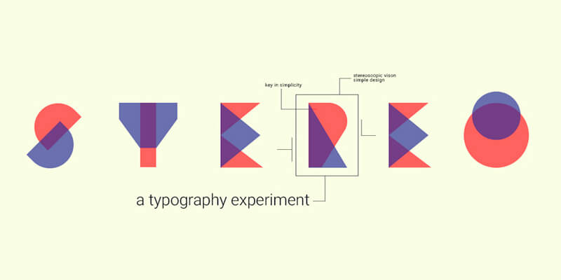 dual colored typeface