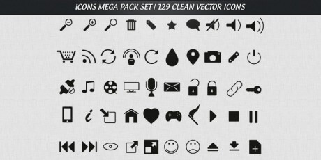 free mega pack vector icons set 129 clean icons