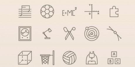 free outlined educational svg icons