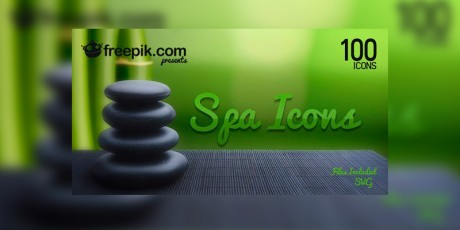 free spa svg icons set