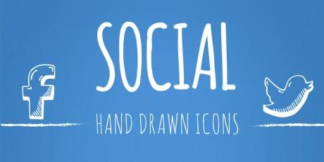 hand drawn vector social icons