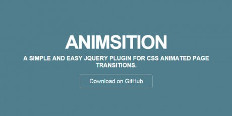 jquery plugin css animated page transitions