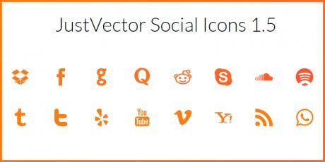 justvector social icon font