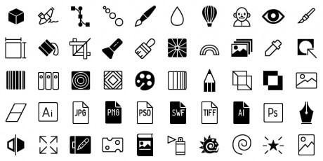 line graphics icon set