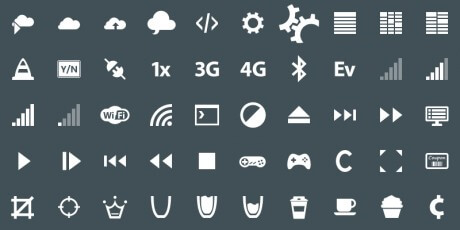 modern mobile ui icons