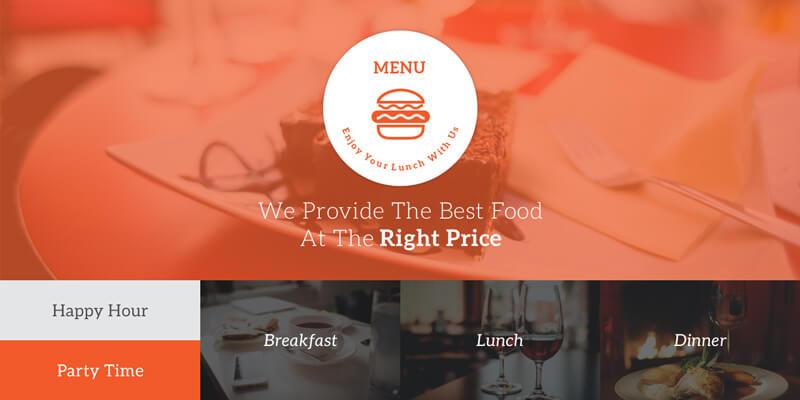 30 12 2014 A PSD Restaurant Menu Template
