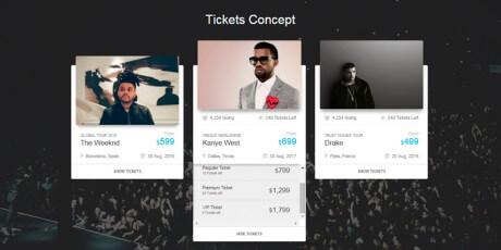 online tickets design concept