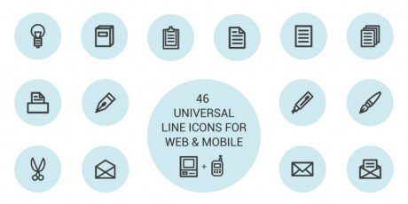 outline web mobile icons