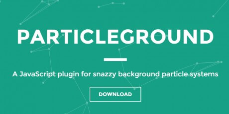 particleground jquery plugin for snazzy backgrounds