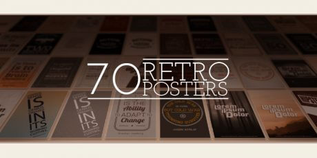 retro poster designs pack 70 items