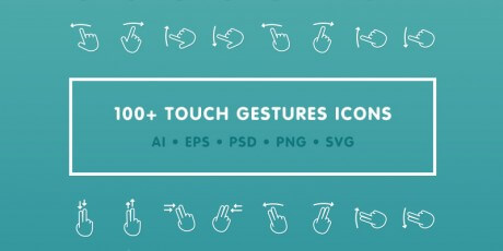 touch gestures icons psd ai svg png eps