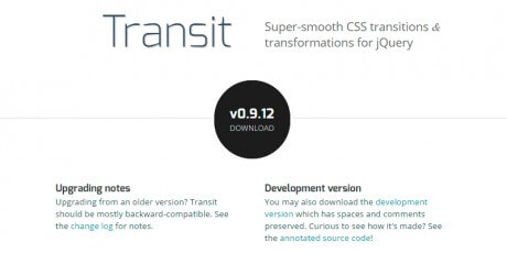 transit css transitions and transformations for jquery