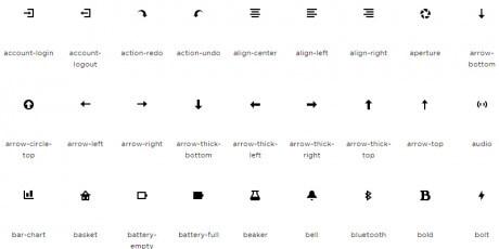 vector webfont icon set