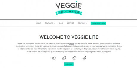 veggie food wordpress theme