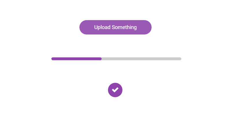 animated material css loading button bypeople
