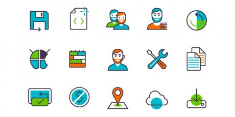apps products features icon set