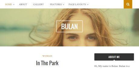 clean minimal blog wordpress theme