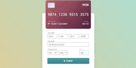 credit card mockup checkout