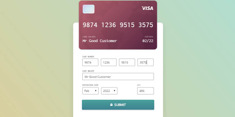 Credit Card Checkout Form | Bypeople