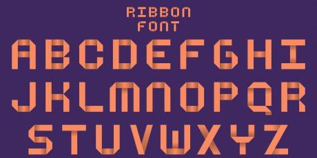 css ribbon font