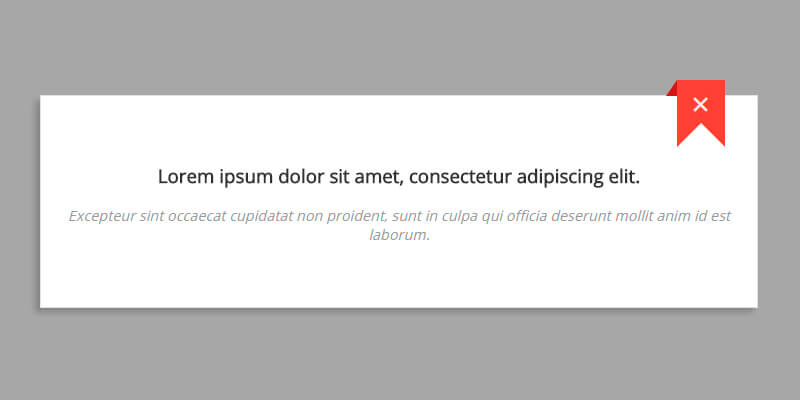 Pure CSS Ribbon Modal | Bypeople