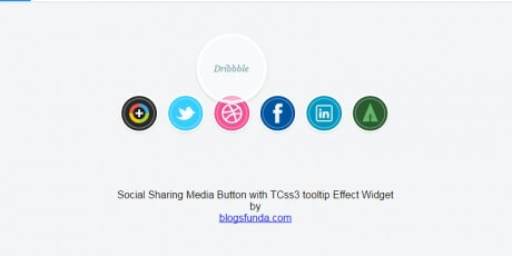 css social sharing button tooltip