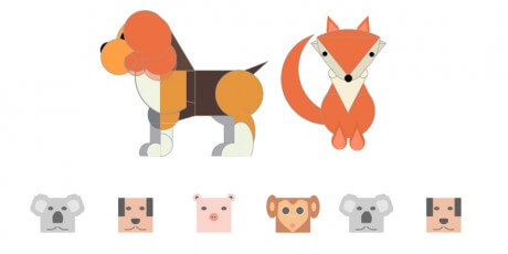 geometric animals illustration