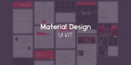 material design psd ui kit