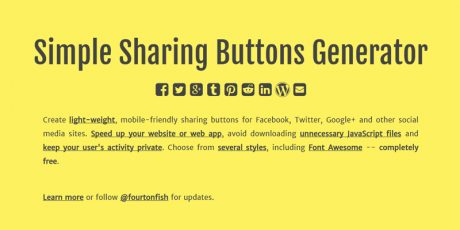 mobile friendly online social buttons generator