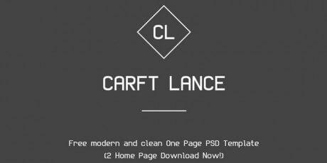 modern clean landing page