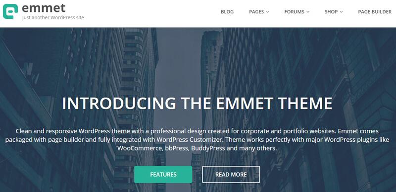 Emmet Lite: Simple & Clean WordPress Theme | Bypeople