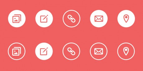 simple icon css hover effects