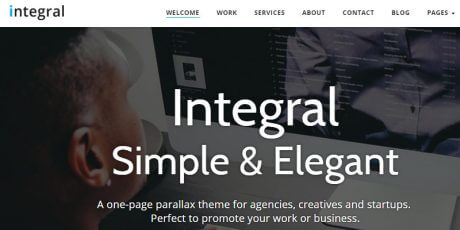 simple one page wordpress theme