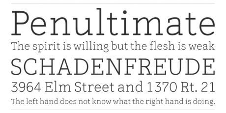 smooth serifs typeface