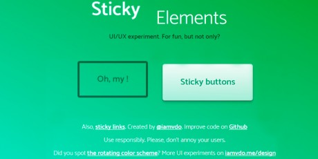sticky elements ux experiment