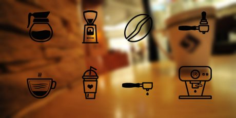 barista coffee icon set