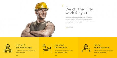 construction building psd website template